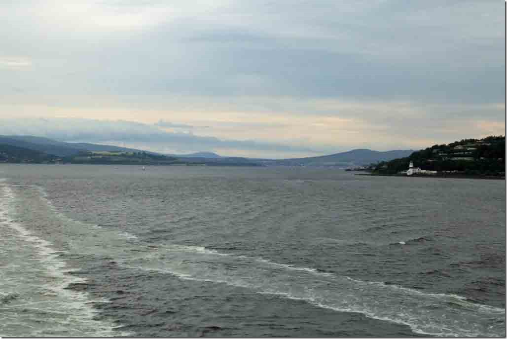 Looking down the Clyde towards Dunoon and Helensborough
