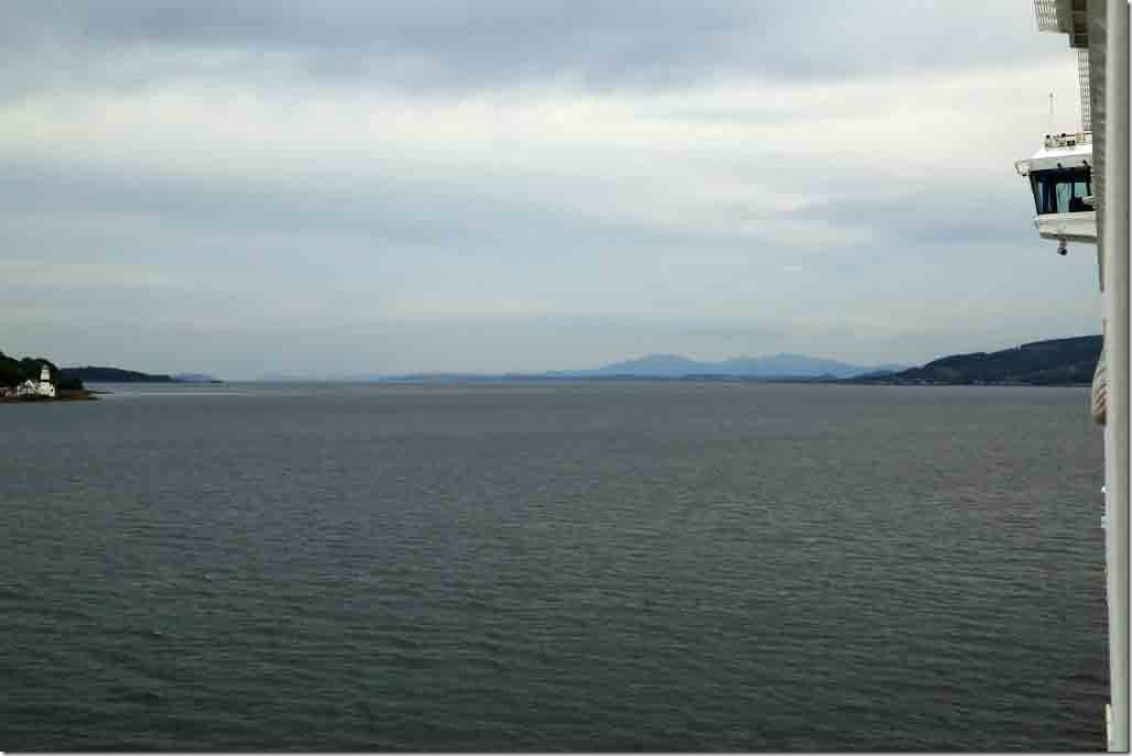 Looking down the Firth of Clyde towards Campbeltown