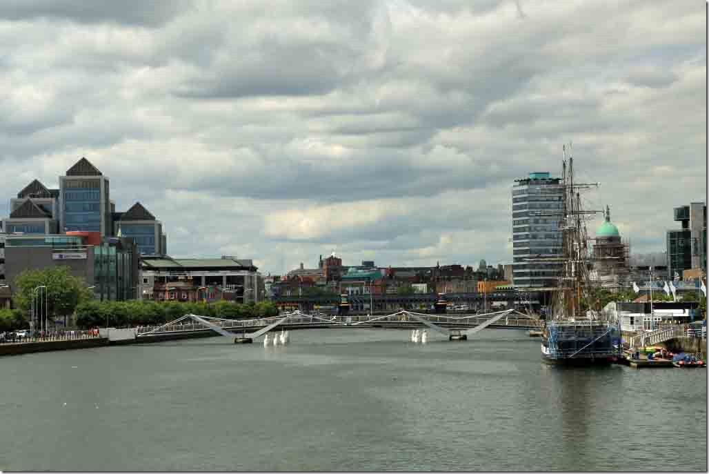 Looking up the River Liffey
