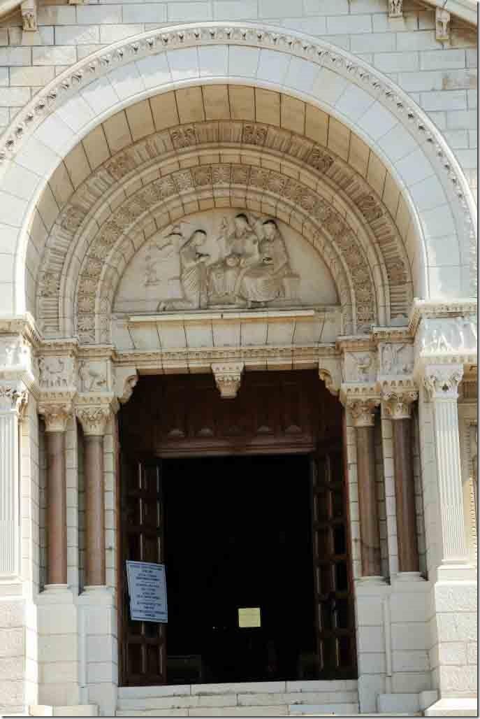 Monaco Cathedral front door