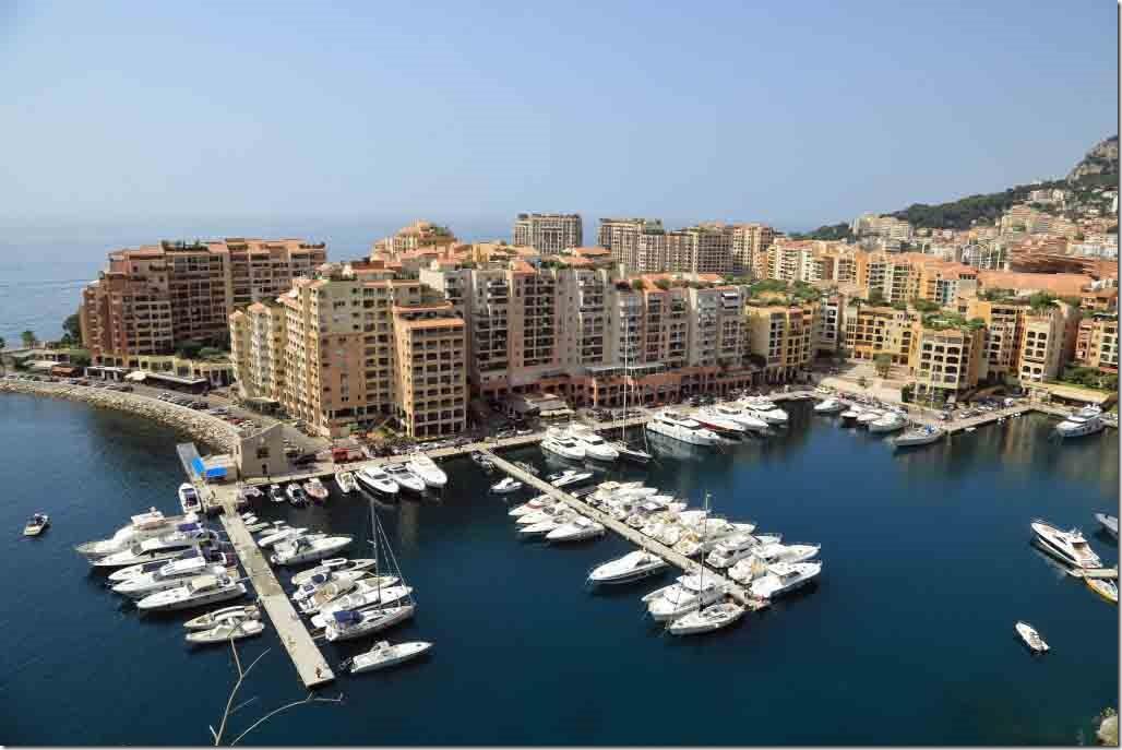 Monaco entrance to smaller harbour