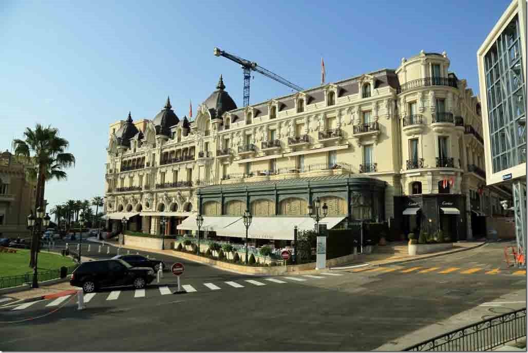 Monaco Hotel de Paris from the fountain across from the casino