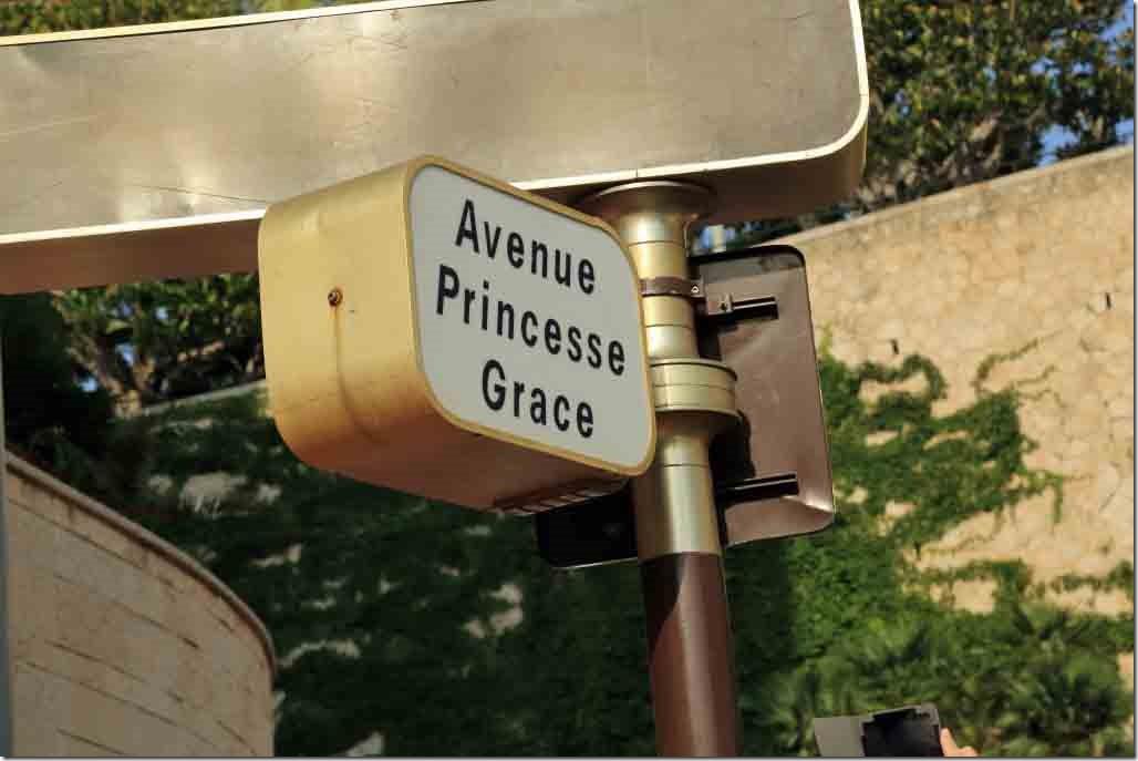 Monaco Princess Grace Avenue along the waterfront