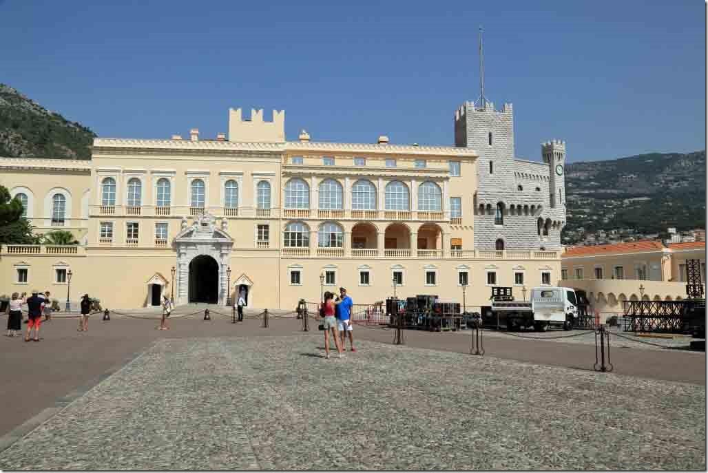 Monaco Royal Palace and castle end