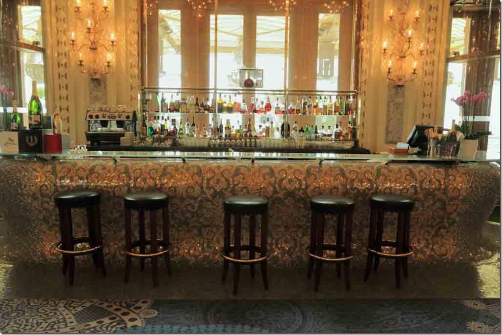 Monte Carlo Casino bar in the rear room with patio behind