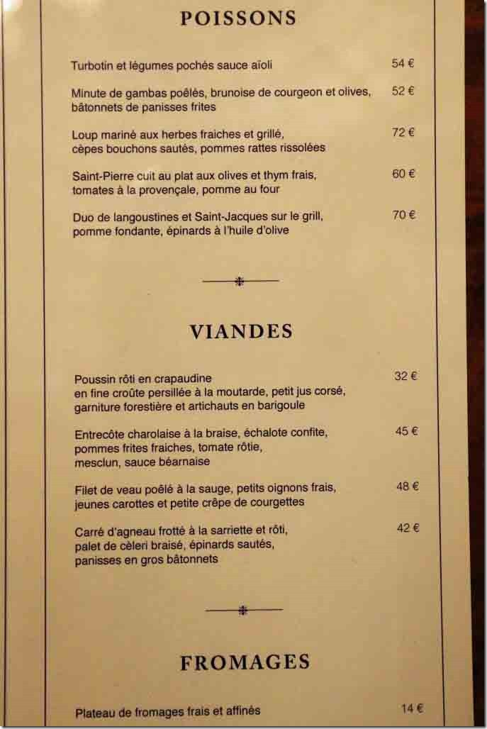 Monte Carlo Casino Blue Train Restaurant Menu 2