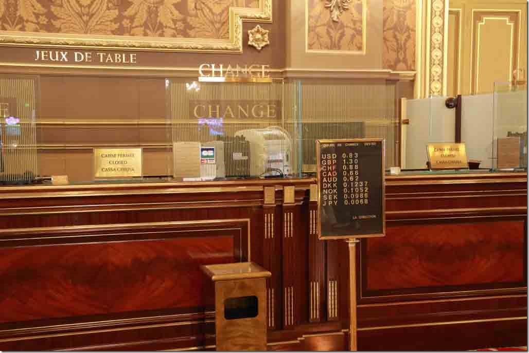 Monte Carlo Casino cashier