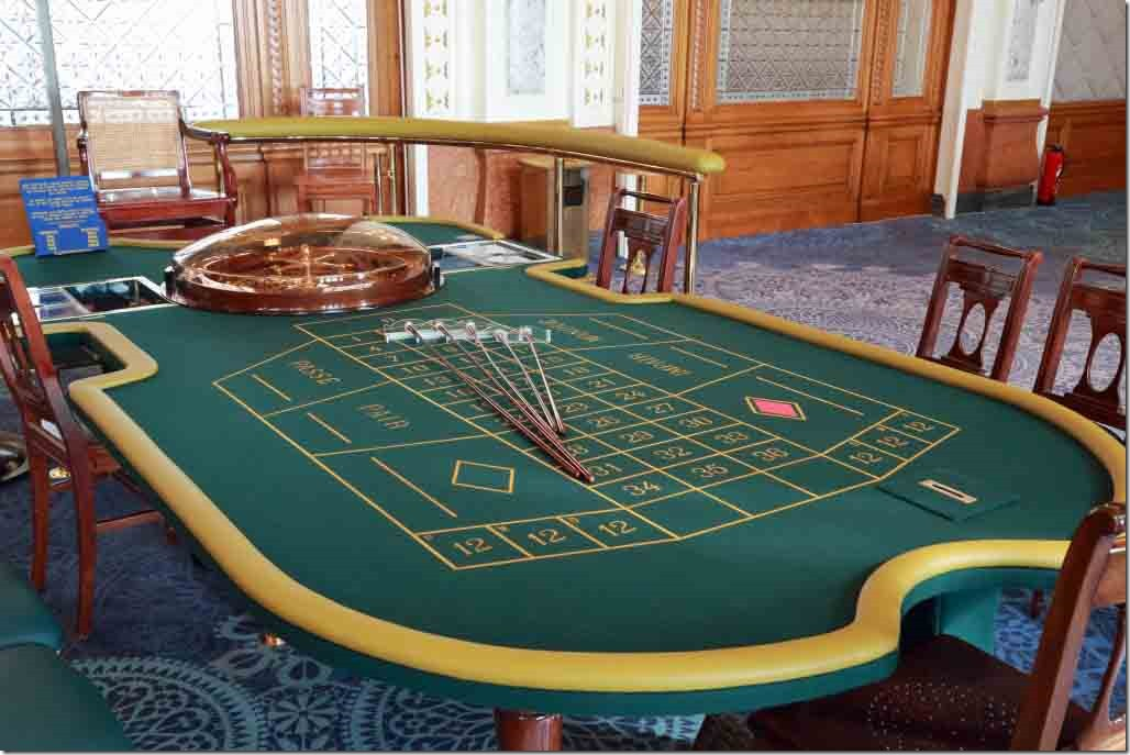 Monte Carlo Casino different type of roullete table in the rear room