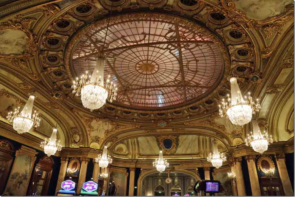 Monte Carlo Casino dome like ceiling in 2nd gaming room