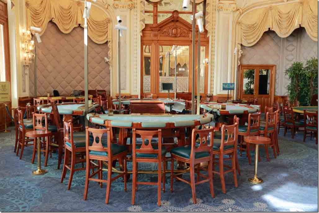 Monte Carlo Casino gaming tables in the rear room