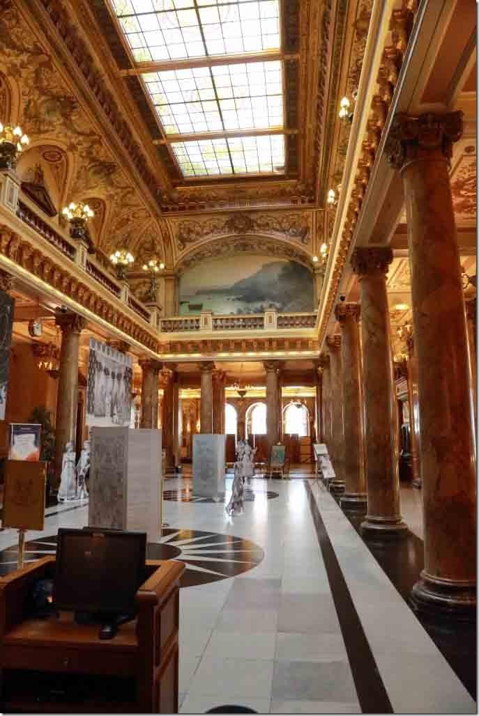Monte Carlo Casino hallway inside of entrance foyer