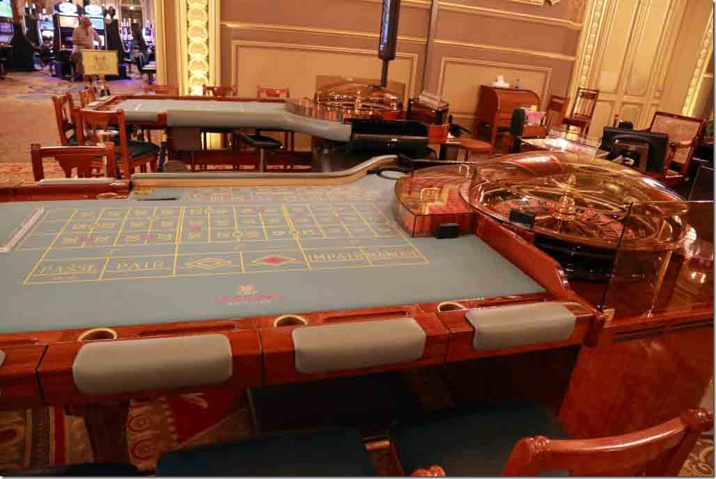 Monte Carlo Casino roulette tables in 3rd gaming room