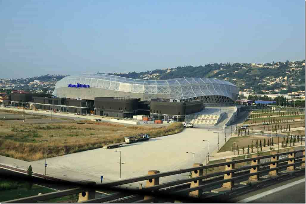 Nice football stadium probably built for the 98 World Cup