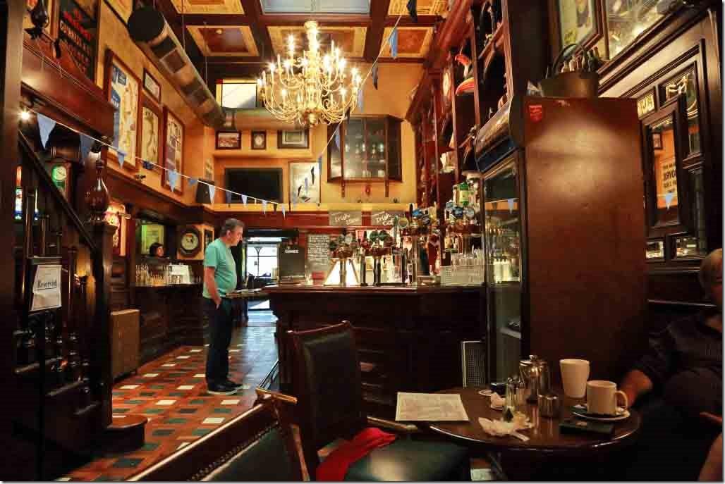 O'Neils Bar where we had lunch