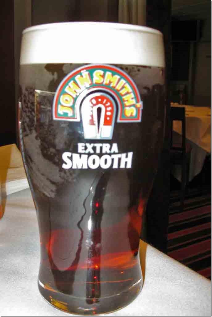 Pint of John Smith's Heavy at Ibrox