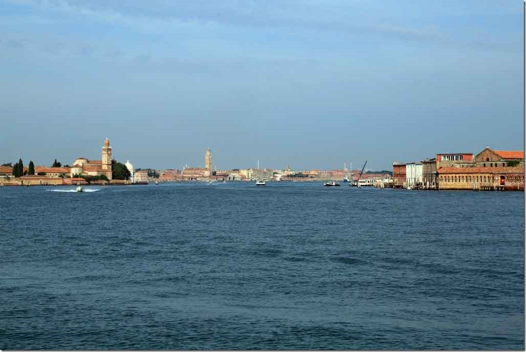 Tour approaching channel on Murano Island