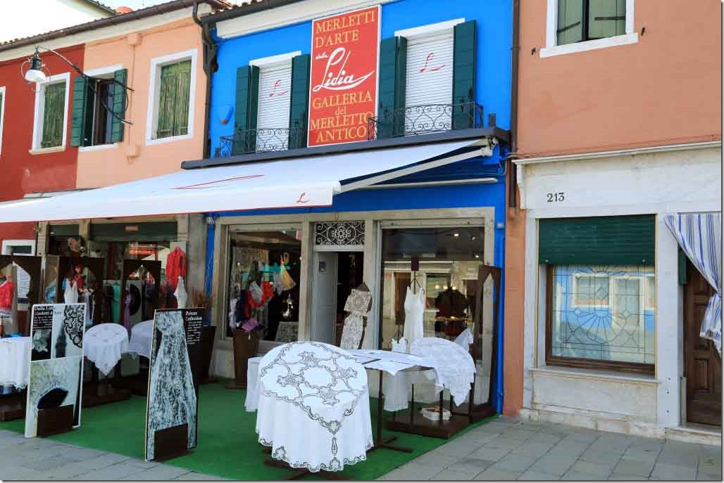 Tour Burano Island hand made lace store
