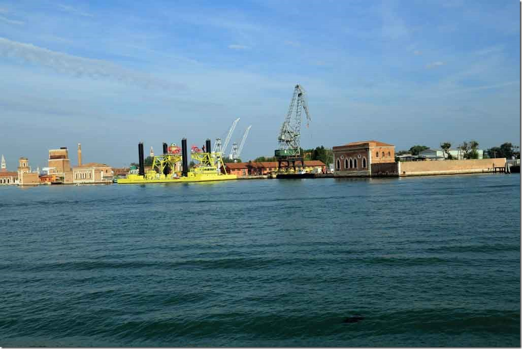 Tour heading to Murano Arsenal shipyars drydocks