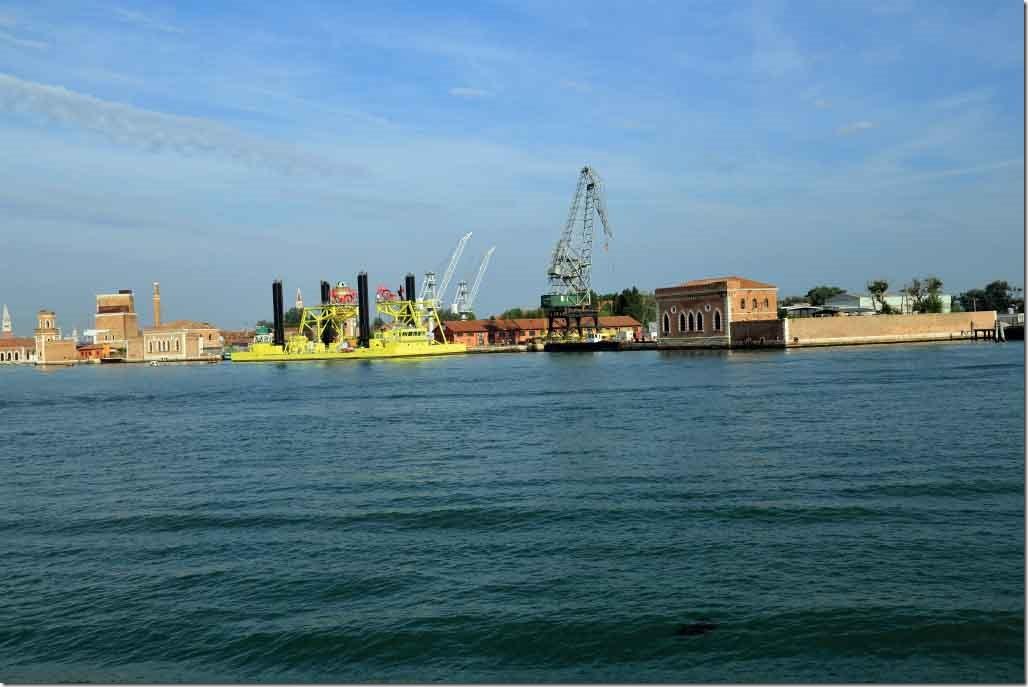 Tour heading to Murano Arsenal shipyars drydocks
