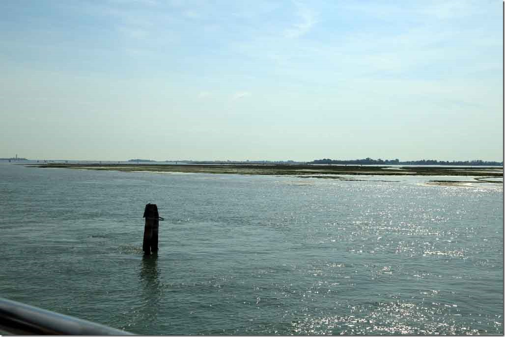 Tour to Burano with the marshy part of the Venetian Lagoon