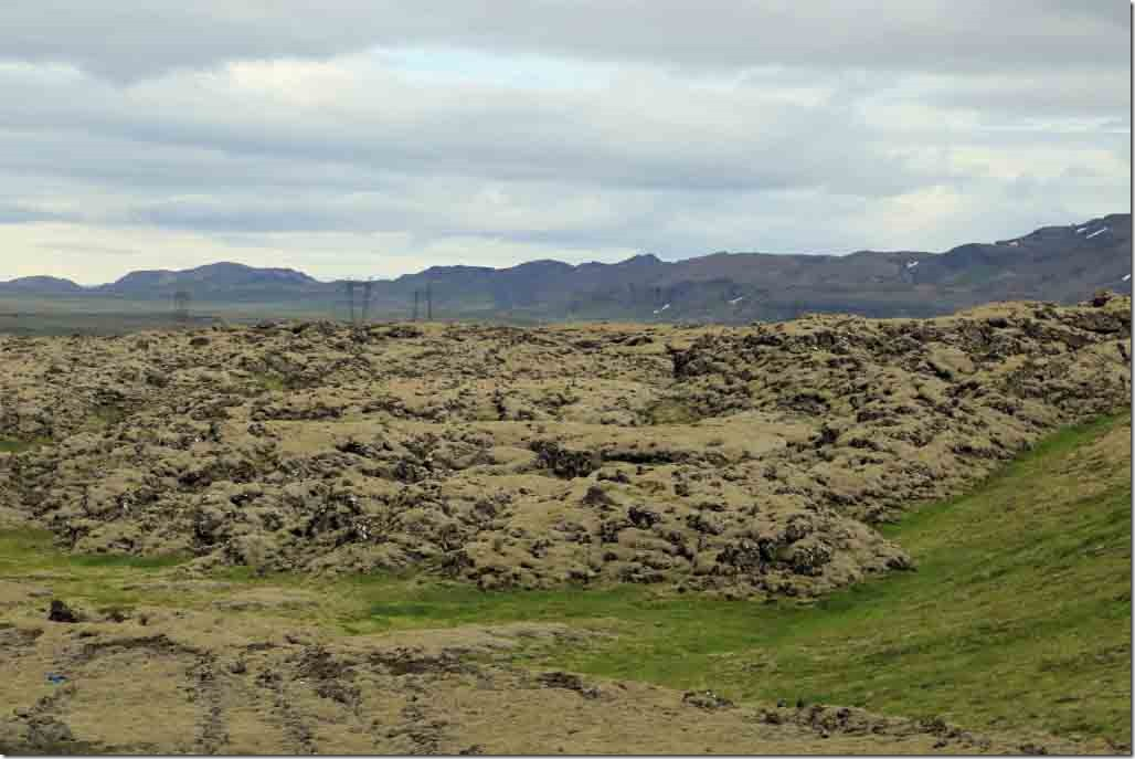 Valley transit with sheets of relatively new lava