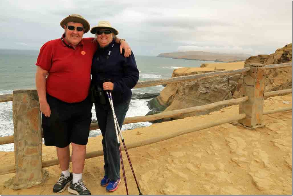 Andy and Judi with Paracas Peninsula coast in the background