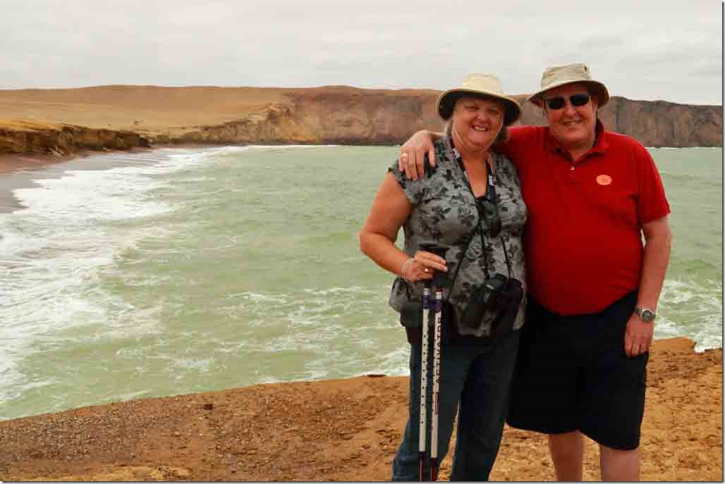 Andy & Judi at the red sand beach