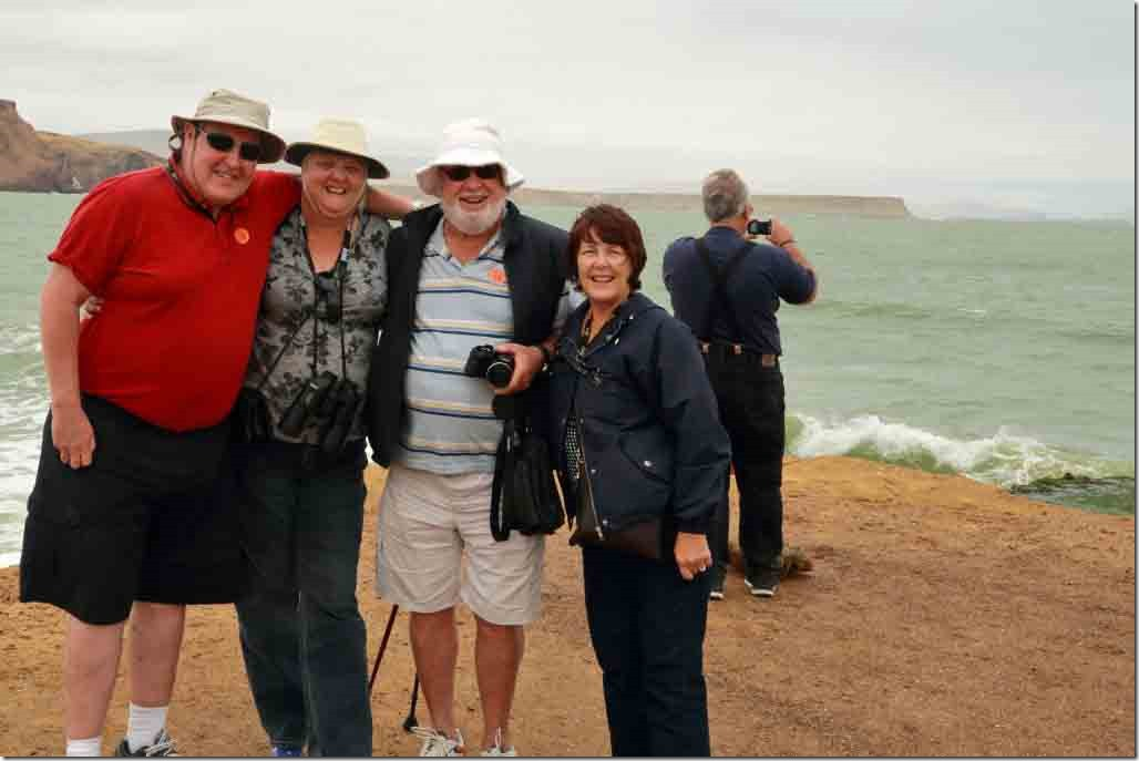 Andy, Judi, Bob and Christine at the red sand beach