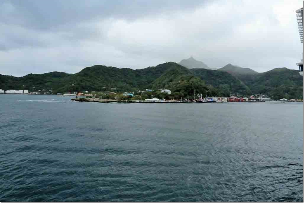 Approaching our berth at Pago Pago