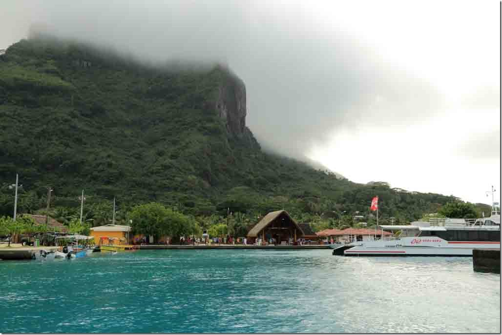 Bora Bora approaching the tender dock ashore