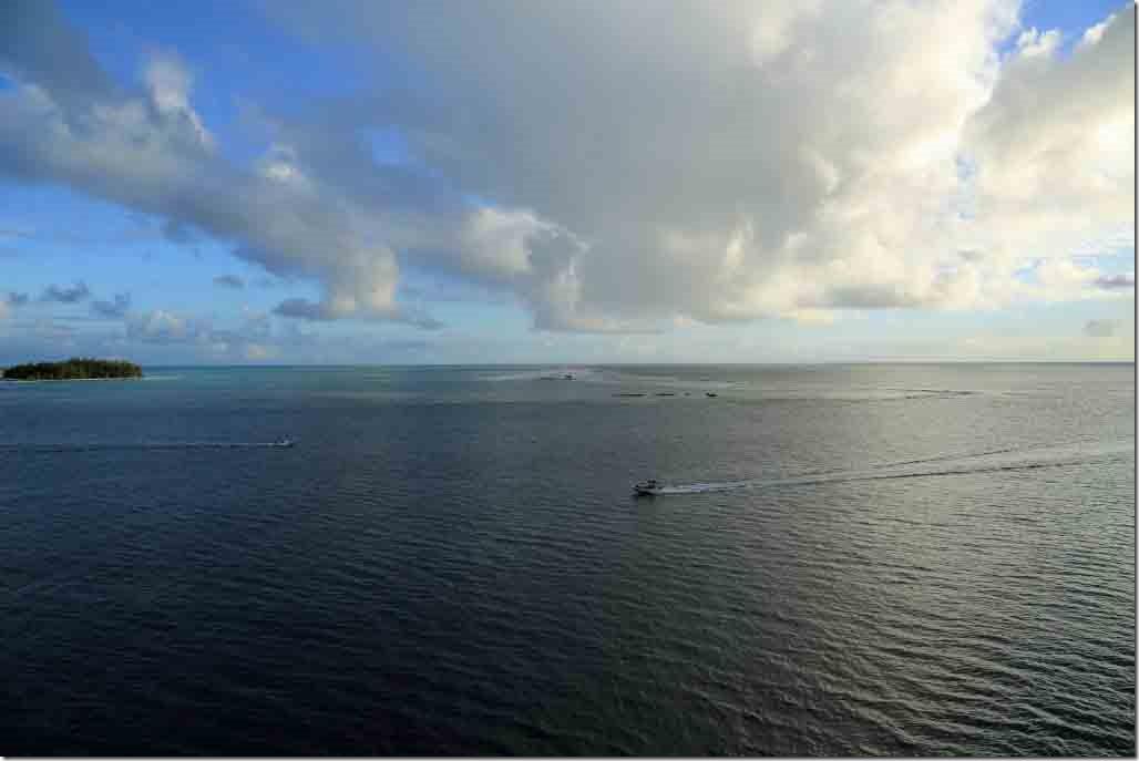 Bora Bora departure heading out the channel
