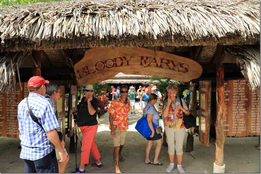 Bora Bora Tour Bloody Marys sign