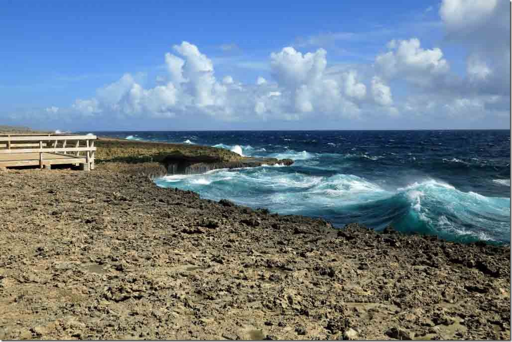 Christoffel National Park desolate lava surface on the NW Curacao shoreline
