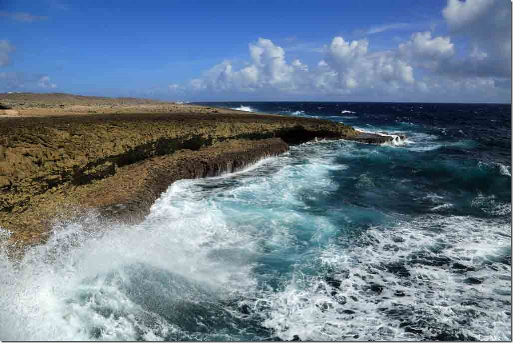 Christoffel National Park shoreline in NW Curacao