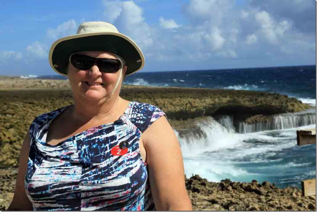 Christoffel National Park with Judi at the windswept coastline
