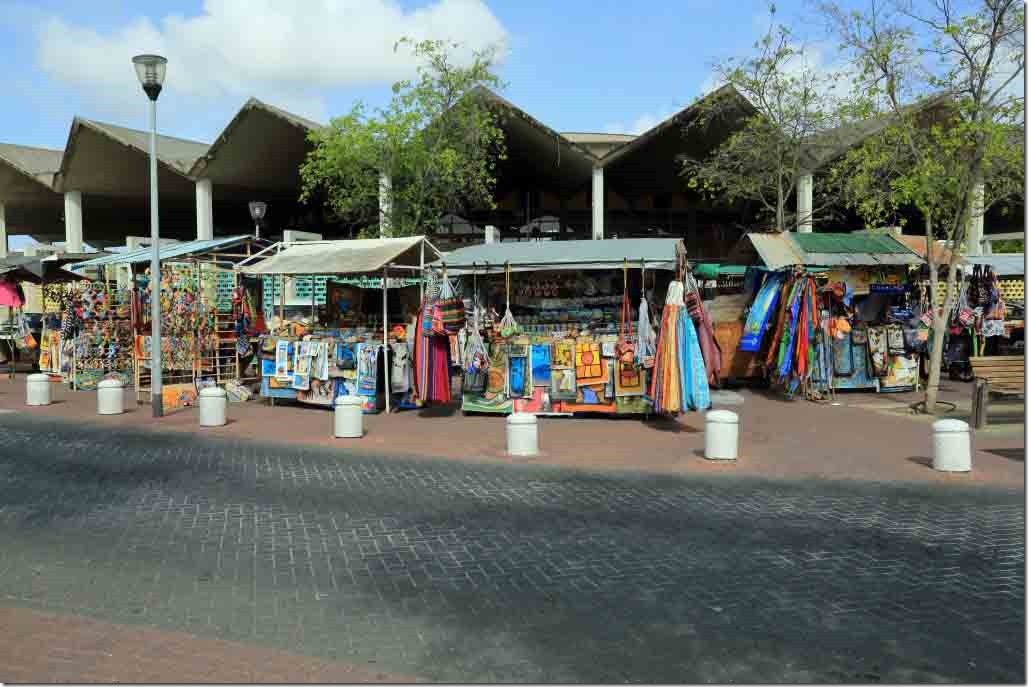 Colourful market stalls