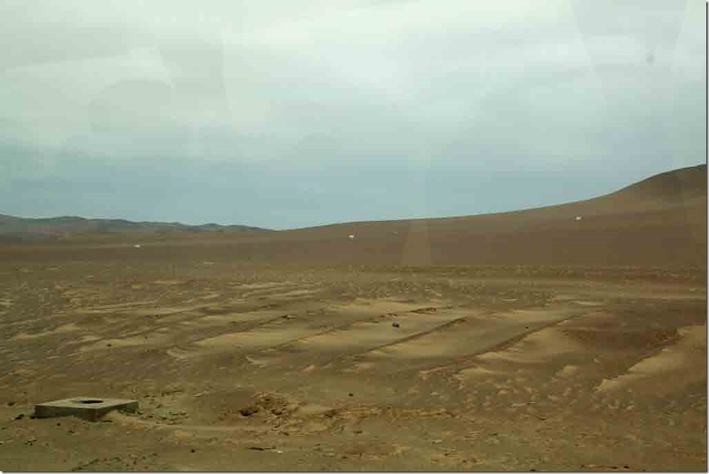Fairly flat desert outside the port