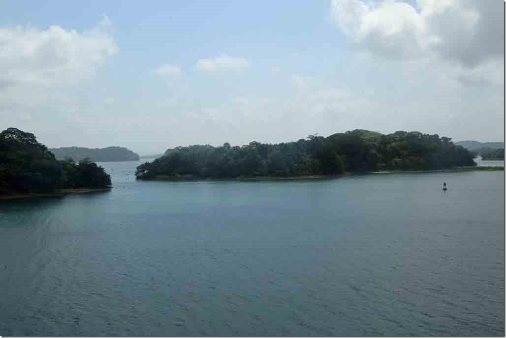 Gatun Lake islands passing down the port side