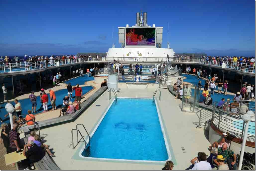 Lido deck from the grill after Pitcairn residents departed for their boat