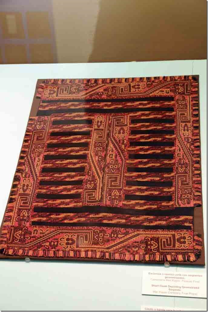 Mueum Paracas textile weaving sample