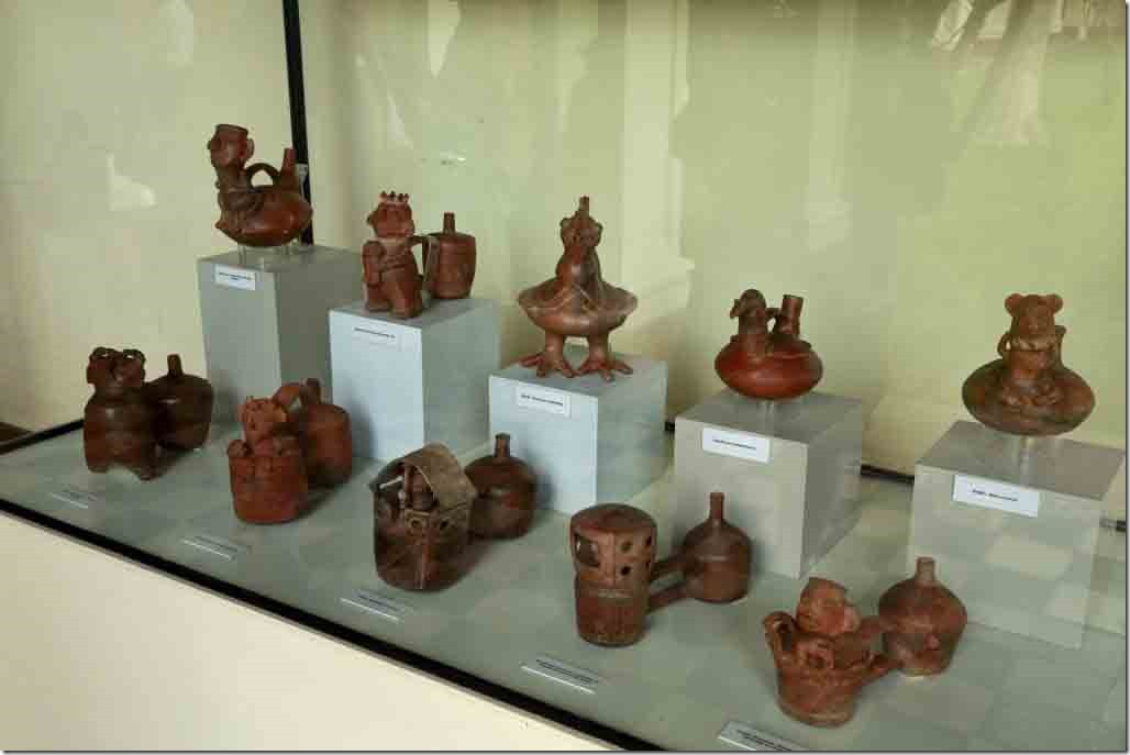 Museum a selection of Vicus work from 200 to 600 AD