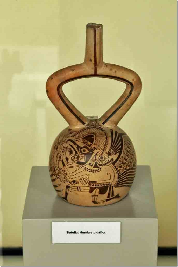 Museum Moche people pottery from 200 to 600 AD