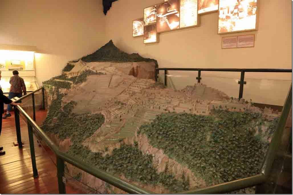Museum mock-up of Macchu Piccho