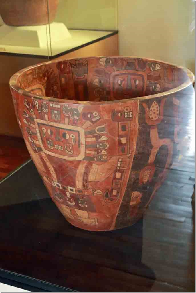 Museum pottery example from Recuay people from 200 to 600 AD