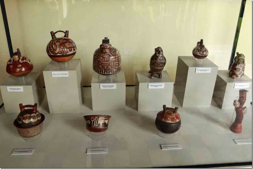 Museum selection of Nasca people pottery
