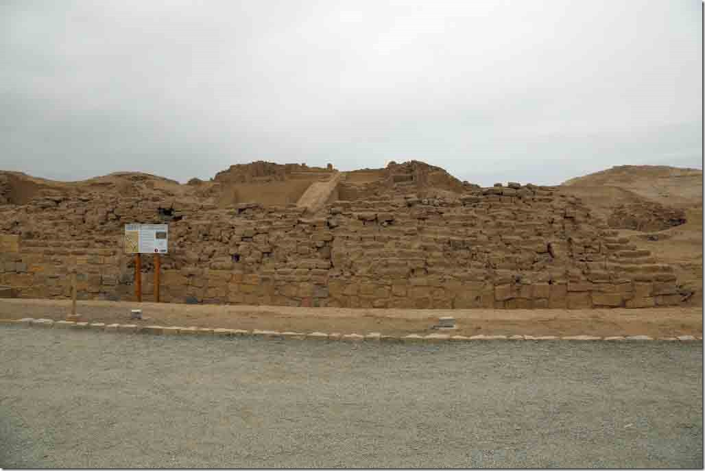 Pachacamac Ruins one of about 17 temples unearthed on the site