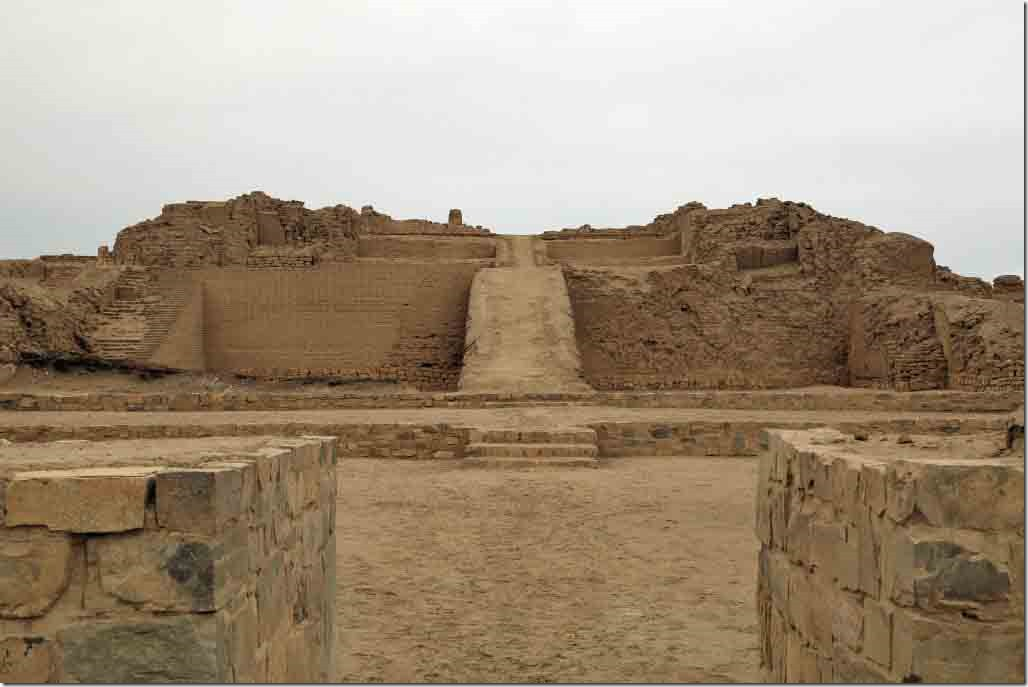 Pachacamac Ruins temple dating from 900 to 1470 AD