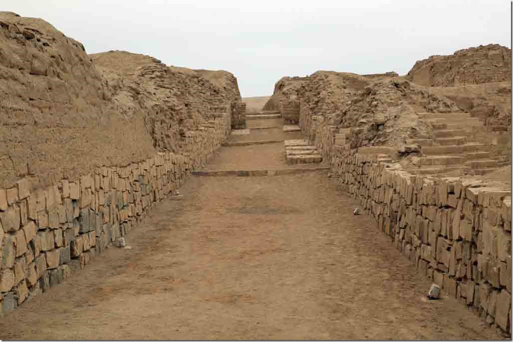 Pachacamac Ruins walkway up to the temple