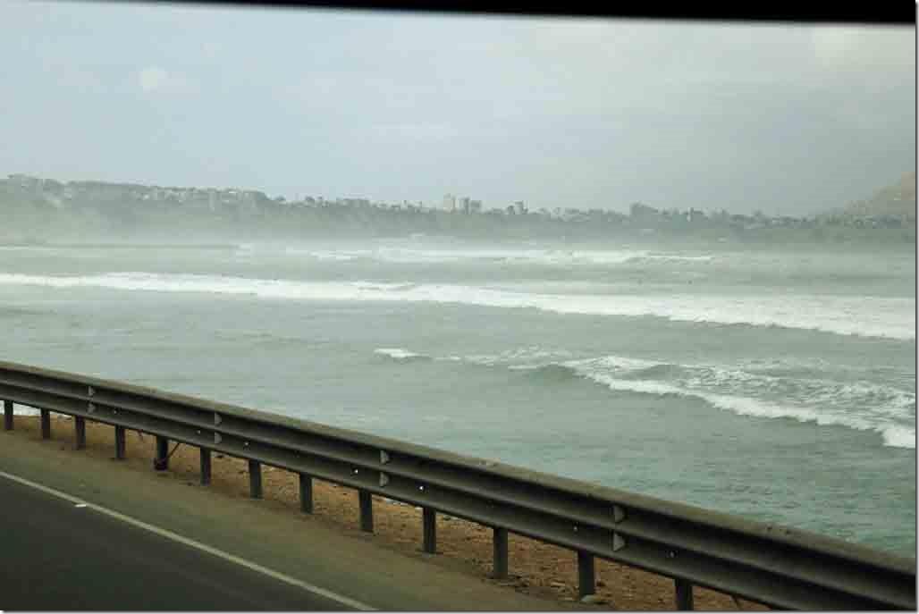 Pacifc Ocean surf at south Lima beach
