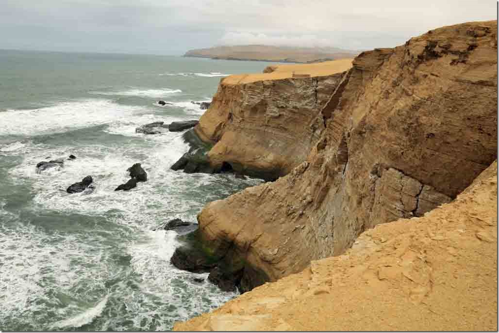 Paracas Peninsula coastline at Cathedral Rock